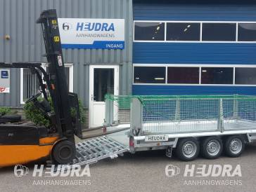 Maatwerk 3500kg 400x150cm machinetransporter met opties