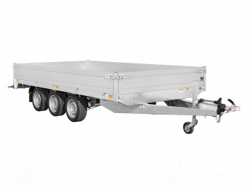 Saris plateauwagen tridemas (3-as) 3500kg 406x224cm