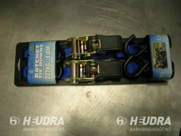Spanband met ratel en haak 1,8 meter