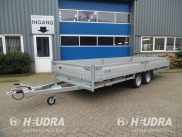 Hulco 3000kg 611x203cm plateauwagen, Medax-2 serie