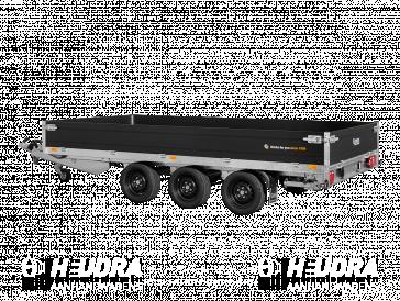 Saris plateauwagen tridemas (3-as) 3500kg 406x204cm