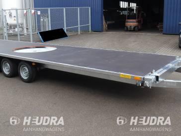 Maatwerk plateauwagen 3500 kg tridemasser (3-as)