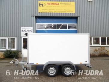 Saris 2000kg 306x154x150cm gesloten aanhangwagen verlaagd wit / grijs