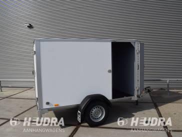 Saris gesloten aanhangwagen 1350kg 256x134x150cm met zijdeur wit / grijs