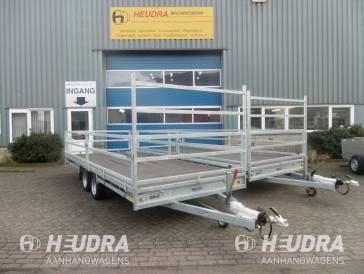 Maatwerk plateauwagen 3500kg 2 assen met bandenframe