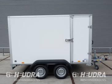 Saris gesloten aanhangwagen 1500kg 306x154x180cm met zijdeur wit/grijs