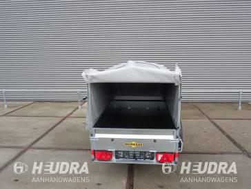 Humbaur Steely bakwagen 750kg met huif en neuswiel 205x109x100cm