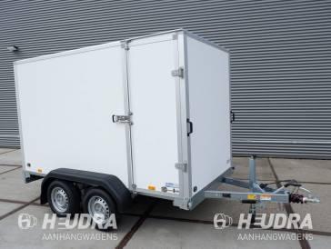 Saris gesloten aanhangwagen 2000kg 306x154x180cm met optie zijdeur wit / grijs